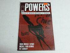 SIGNED comic book POWERS # 6 by Brian m. bendis , micheal a. oeming