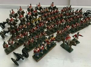 Large Lot of Vintage Napoleonic War Figures / Soldiers Metal / Lead Well Painted
