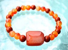 Red Jasper & Jade Handmade Mala Beads Nirvana Healing Bracelet