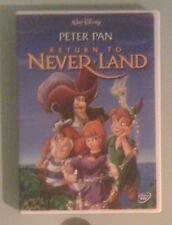 walt disney peter pan RETURN TO NEVER LAND neverland  DVD includes insert