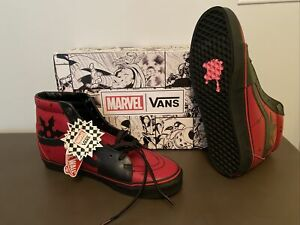 Mens Size 11.5 - VANS Sk8-Hi x Marvel Deadpool new unworn