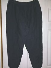 NEW EILEEN FISHER DENIM EASY ANKLE PANTS ORGANIC LINEN SIZE PETITE LARGE PL