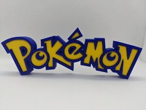 Pokemon Sign 3D Printed