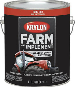Krylon Farm & Implement Weather Guard Protection Ford Red High Gloss Enamel 1Gal