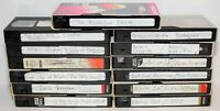 Lot of 13 Various Brands Recorded VHS Tapes - Sold As Blank Media - Lot # 33
