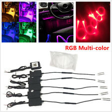 1In 5 RGB LED In-Car Decor Atmosphere Light APP Bluetooth Control 6M Optic Fiber