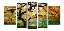Maple Canvas Wall Art Print Set of 5 Total 35.43 X 70.87 Inch Glow in Dark