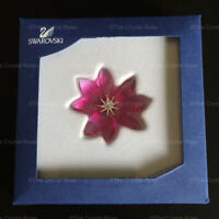 RARE Retired Swarovski Crystal Paradise Flowers Dilicia 956806 Mint Boxed Pink