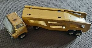 Vintage Large Tonka Truck Car Carrier Trailer  Pressed Steel 1970s Metal