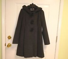 Size 14 Rothschild Dress Coat Hooded Gray Faux Wool Washable Girls New $140