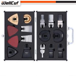 WELLCUT Mix Multi Tool Saw Blades 34 Pieces Accessory Set in Aluminium Case