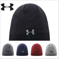 New UNDER ARMOUR Men's Women's Winter Warm Hat Cuffed Knit Stretch Beanie Cap
