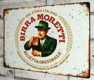 Birra Moretti Lager Beer Vintage Metal Sign Home Bar Pub Man Cave Shed Workshop