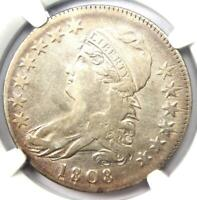 1808 Capped Bust Half Dollar 50C - NGC XF40 (EF40) - Rare Coin - Nice Luster!