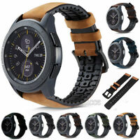 20/22mm Leather & Silicone Watch Band Quick Release Pin Wrist Strap For Samsung