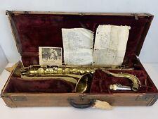 Conn 10M Tenor Saxophone w/ Cozy Eggleston Musician Set List 1947-1948