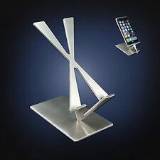 4ArtsOnDesk Modern Art Cell Phone Stand St204 Stainless Steel Satin Finish