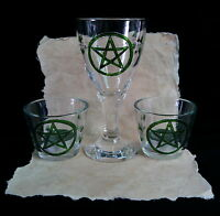 Chalice and Candle Holder Wicca Pagan Altar Pentacle Oak Leaf Hand-fasting Gift