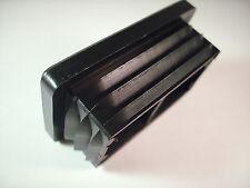 20 Endkappen/Stopfen/Gleiter für Rechteckige Rohre von 20x10-50x40 mm, Schwarz