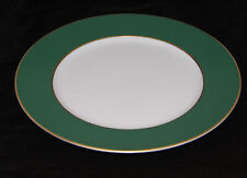 A. Raynaud & Co. Prince Murat Dinner Plate Green/White with Gold Incrustation