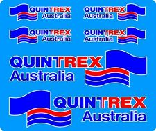Quintrex, 3 Colour, Fishing, Boat, Mirrored Sticker Decal Set of 6