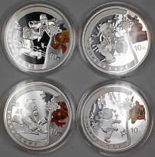 Beijing 2008 Olympic Coins Series I Silver Proof Set w/ Box & Coa-Ogp