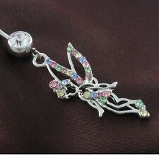 Multicolor Fairy Angel Wing Dangle Belly Button Naval Rings Body Fashion Jewelry