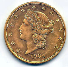 20 Dolares U.S.A. oro 1904 @@ Liberty @@ Excelente @@ E.B.C. @@