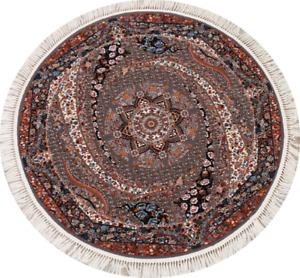 Transitional Floral Tebriz Turkish Oriental Area Rug Kitchen Carpet 5x5 ft Round
