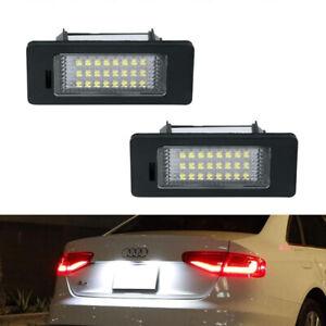 For Audi B8 A4 A5 S4 S5 Q5 TT LED License Plate Lights Super White Error Free 2X