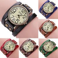 Fashion Men Women Watch Stainless Steel Leather Boy Girl Quartz Dial Wrist Watch