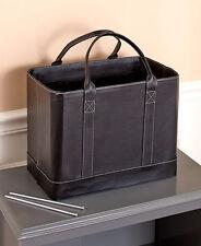 Black Portable File Folder Organizer Document Storage Office Tote Fashion Bag RV