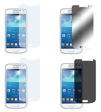 4 x Samsung Galaxy S4 Mini Klar+ Matt+ Spiegel + Blickschutz Displayschutz Folie