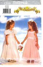 Butterick Pattern Enchanting Flower Girl's DRESS & PETTICOAT 5382  5-6-6X UNCUT
