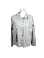 NWT $98 Liverpool Women's Size XXL Perrie Gray Denim Jacket Powerflex Stitch Fix