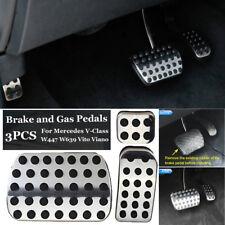 Silver+Black Brake Pedal For Mercedes V-Class Vito Viano W447 W639 Accessory