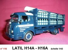 n° 116 LATIL H14A – H16A  Bouteilles de Gaz  CAMIONS D'AUTREFOIS 1/43 neuf Boite