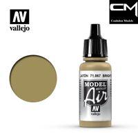 Vallejo Model Air 71.067 Metallic Bright Brass - 17ml Acrylic Airbrush Paint