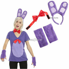 Bonnie Bunny Five Nights at Freddy's Adult Headband Ear Bow Tie Costume KIT ONLY