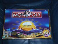 Hasbro MONOPOLY EURO EXCLUSIVE Version Board Game - French  (RARE / Collector)