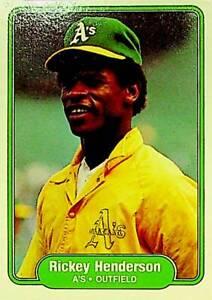 1982 Fleer Rickey Henderson #92 Baseball Card - Oakland A's