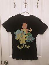 Women's Cute Pokémon T-Shirt (Pikachu Squirtle Charmander Bulbasaur) - Size XS