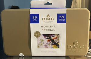 DMC 35pc MOULINE SPECIAL in Collector Tin Embroidery Floss (8.7yd Per Skein)