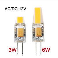 Dimmable 10X G4 LED Lumière Ampoule 3W 6W LED COB Lampe Ampoule AC/DC 12V