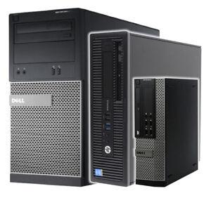Fast Computer i5 4th Gen Dell HP SFF Desktop PC 8GB RAM 240GB SSD Windows10 WiFi