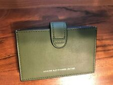 Coach Green Glove Tanned Leather Accordion Card Case Wallet