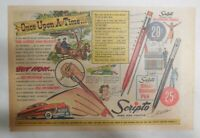 Scripto Pens & Pencils Ad: Once Upon A Time ! from 1940's Size: 7.5 x 10 in