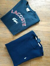 MEN'S SIZE S SHIRT (LOT OF 2) LACOSTE DISTRESSED T-SHIRT, RALPH LAUREN THERMAL