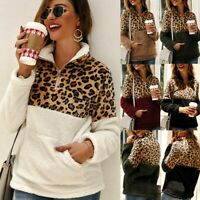 Women's Autumn Winter Leopard Long Sleeve Turtleneck Casual Sweater Tops Blouses