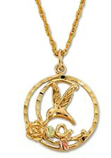 Landstrom's® 10K Black Hills Gold Hummingbird Pendant